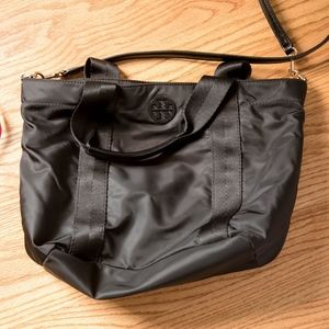 Tory Burch small nylon Quinn tote